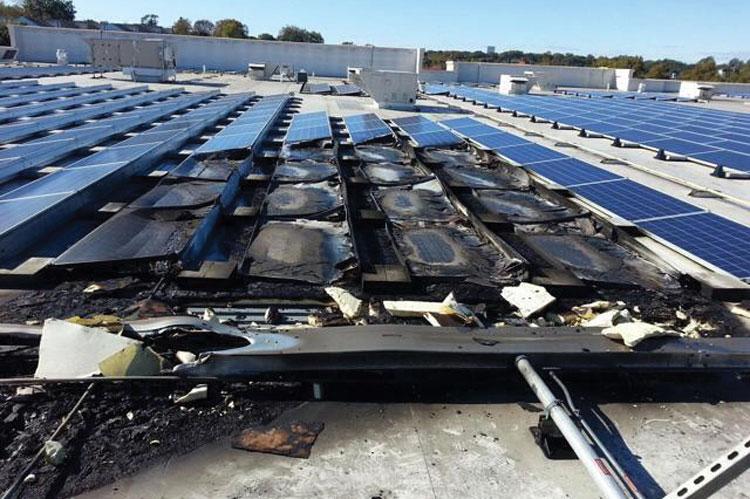 roof solar panel fire ile ilgili görsel sonucu
